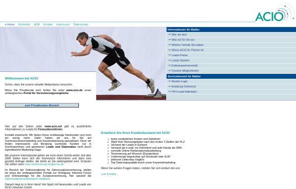 Vorschau von www.acio.net, Acio networks GmbH