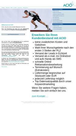 Vorschau der mobilen Webseite www.acio.net, Acio networks GmbH