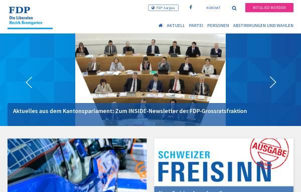 Vorschau von www.fdp-bezirk-bremgarten.ch, FDP Bezirk Bremgarten