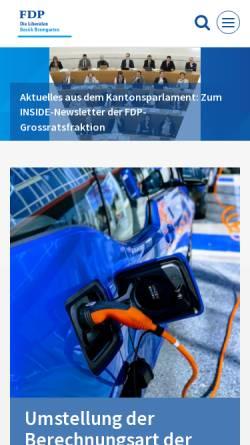 Vorschau der mobilen Webseite www.fdp-bezirk-bremgarten.ch, FDP Bezirk Bremgarten