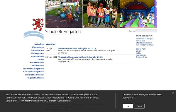 Vorschau von www.schule-bremgarten.ch, Schule Bremgarten