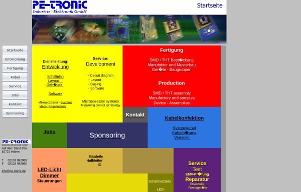 Vorschau von www.pe-tronic.de, Pe-Tronic Industrie-Elektronik GmbH