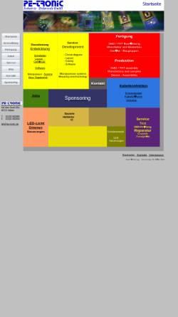 Vorschau der mobilen Webseite www.pe-tronic.de, Pe-Tronic Industrie-Elektronik GmbH