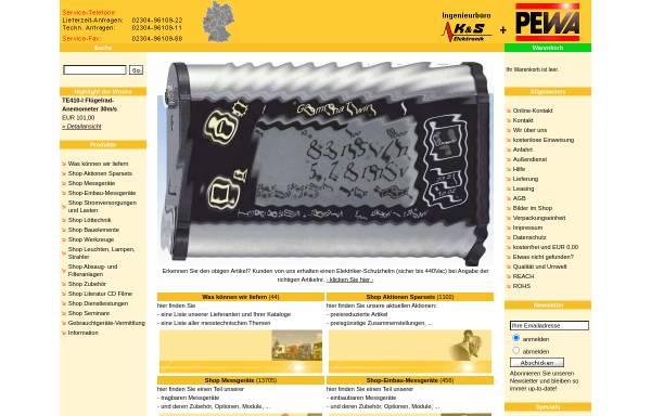 Vorschau von www.pewa.de, PEWA Messtechnik GmbH