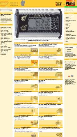 Vorschau der mobilen Webseite www.pewa.de, PEWA Messtechnik GmbH