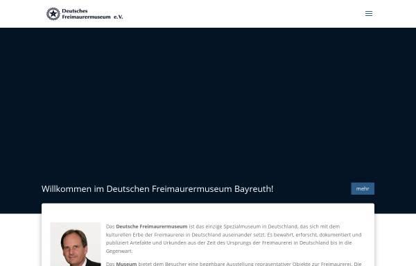 Vorschau von www.freimaurermuseum.de, Deutsches Freimaurermuseum