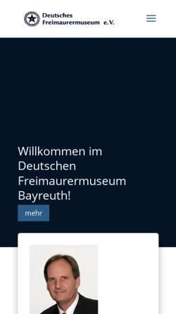 Vorschau der mobilen Webseite www.freimaurermuseum.de, Deutsches Freimaurermuseum