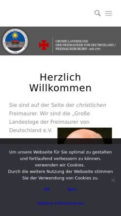 Vorschau der mobilen Webseite www.freimaurerorden.org, Grosse Landesloge der Freimaurer von Deutschland