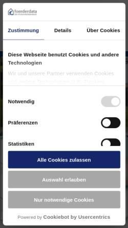 Vorschau der mobilen Webseite www.foerderdata.de, Foerder.Data