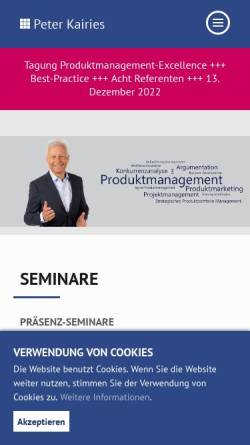Vorschau der mobilen Webseite peterkairies.de, Peter Kairies