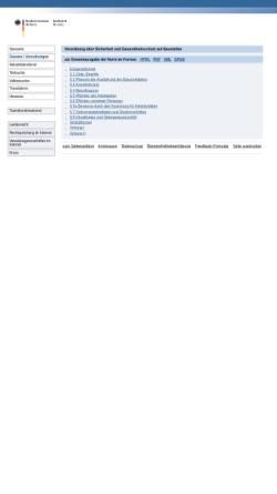 Vorschau der mobilen Webseite www.gesetze-im-internet.de, Baustellenverordnung (BaustellV)