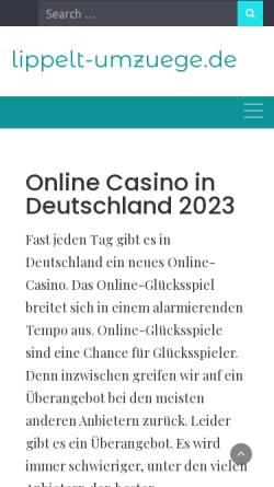 Vorschau der mobilen Webseite www.lippelt-umzuege.de, Lippelt-Umzüge