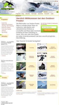 Vorschau der mobilen Webseite www.outdoor-freaks.de, Outdoor-Freaks GmbH