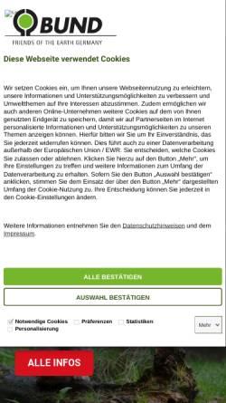 Vorschau der mobilen Webseite www.bund.net, Bund für Umwelt und Naturschutz Deutschland