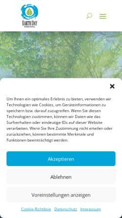 Vorschau der mobilen Webseite www.earthday.de, Earth Day und Earth Week