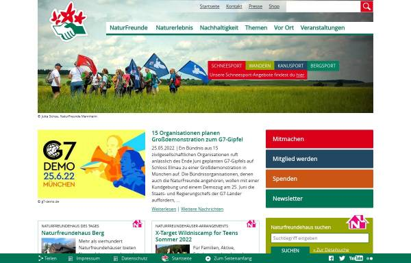 Vorschau von www.naturfreunde.de, NaturFreunde Deutschlands e.V.