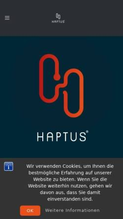 Vorschau der mobilen Webseite www.haptus.de, Haptus, Dr. Hans-Otto Bott