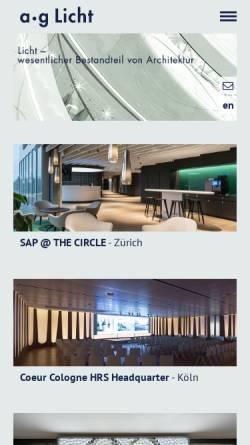 Vorschau der mobilen Webseite www.aglicht.de, a.g Licht GbR