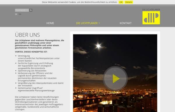 Vorschau von www.lichtplaner.com, Die Lichtplaner: Klaus Hochschwarzer, Thorsten Braun, Jörg Klasen