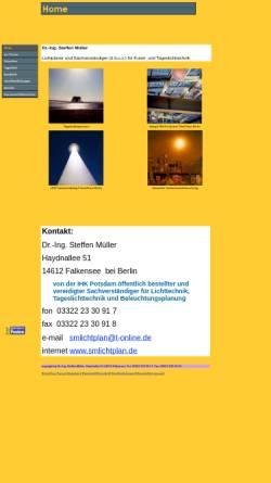 Vorschau der mobilen Webseite www.smlichtplan.de, SMlichtplan, Inh. Dr.-Ing. Steffen Müller