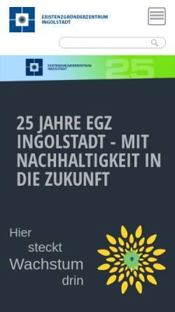 Vorschau der mobilen Webseite www.egz.de, Existenzgründerzentrum Ingolstadt