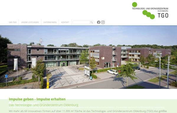 Vorschau von www.tgo-online.de, Technologie- und Gründerzentrum Oldenburg