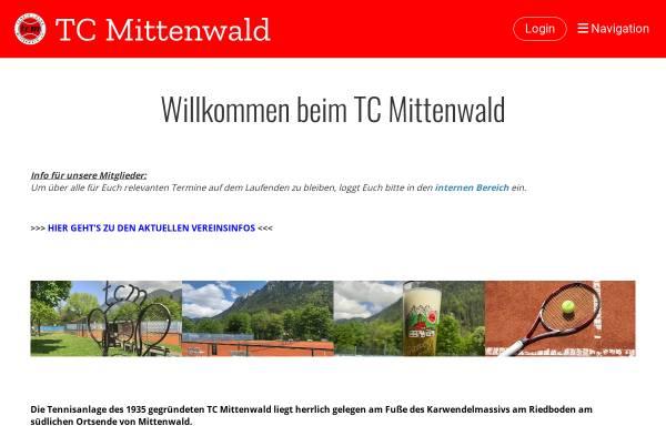Vorschau von www.tc-mittenwald.de, Tennisclub Mittenwald e. V.