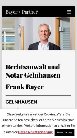 Vorschau der mobilen Webseite www.rechtsanwalt-bayer.de, Bayer, Frank