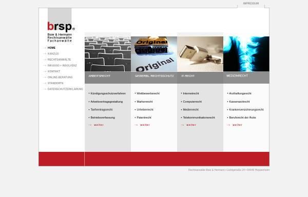 Vorschau von www.brsp.de, Boie & Hermann Rechtsanwälte
