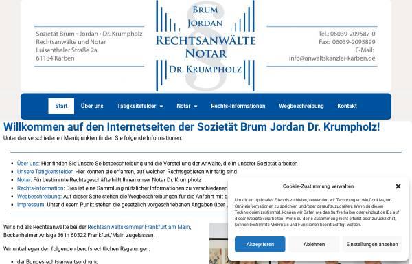 Vorschau von www.anwaltskanzlei-karben.de, Brum, Jordan und Krumpholz