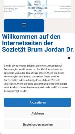 Vorschau der mobilen Webseite www.anwaltskanzlei-karben.de, Brum, Jordan und Krumpholz