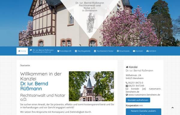 Vorschau von www.ruessmann-bensheim.de, Dr. Bernd Rüßmann