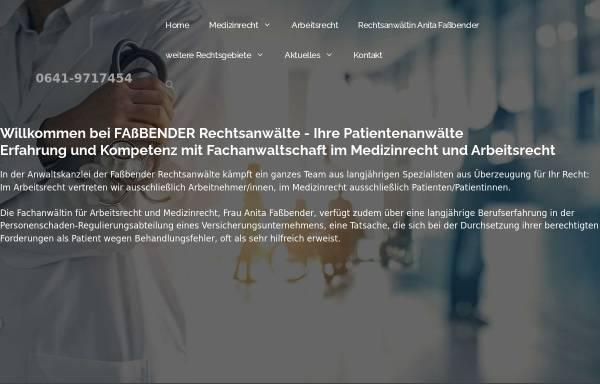 Vorschau von www.fassbender-rechtsanwaelte.de, Fassbender, Anita