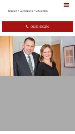 Vorschau der mobilen Webseite www.gaede-lawyers.de, Gaede, Heiko