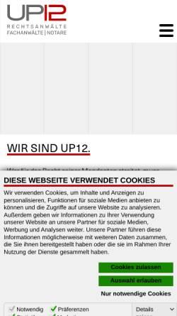 Vorschau der mobilen Webseite www.nickelonline.de, Nickel, Dröse, Zabel, Scharff & Eiding
