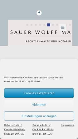 Vorschau der mobilen Webseite swm.co, Sauer, Wolff, Martin
