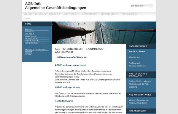 Vorschau von www.agb-info.de, Thole & Breitmoser