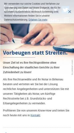 Vorschau der mobilen Webseite www.unrath-reitz.de, Unrath und Reitz