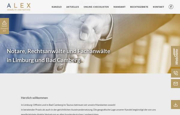 Vorschau von alex-anwalt.de, ALEX Rechtsanwälte & Notare