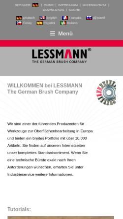 Vorschau der mobilen Webseite www.lessmann.com, Lessmann GmbH