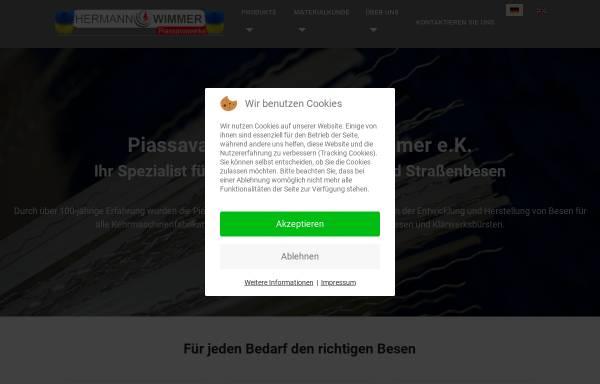 Vorschau von www.wimmer-buersten.de, Piassavawerke Hermann Wimmer e.K.