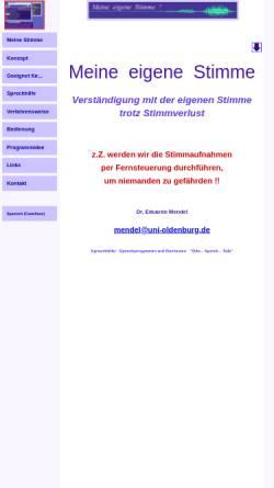 Vorschau der mobilen Webseite meine-eigene-stimme.de, Meine eigene Stimme