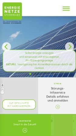 Vorschau der mobilen Webseite www.gasnetzsteiermark.at, Gasnetz Steiermark GmbH