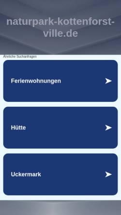 Vorschau der mobilen Webseite www.naturpark-kottenforst-ville.de, Naturpark Kottenforst-Ville