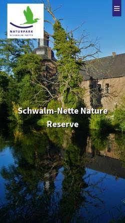 Vorschau der mobilen Webseite www.npsn.de, Naturpark Schwalm-Nette