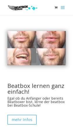 Vorschau der mobilen Webseite www.beatbox-schule.de, Beatbox-Schule