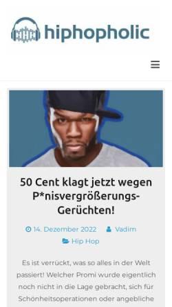 Vorschau der mobilen Webseite hiphopholic.de, HipHopHolic - All About Hip Hop