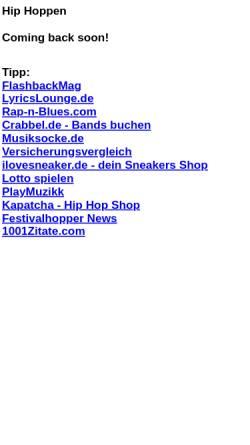 Vorschau der mobilen Webseite www.hip-hoppen.net, hip-hoppen.de