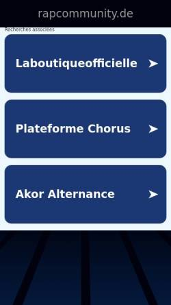 Vorschau der mobilen Webseite www.rapcommunity.de, Rapcommunity