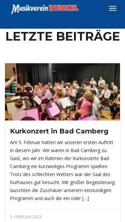 Vorschau der mobilen Webseite www.mvrunkel.de, Musikverein Runkel e.V.